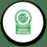 Sello de Organización Internacional Agropecuaria. Orgánico certificado