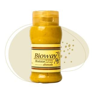 Frasco de Mostaza con miel en grano ahumada