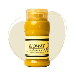 Frasco de Mostaza con miel ahumada