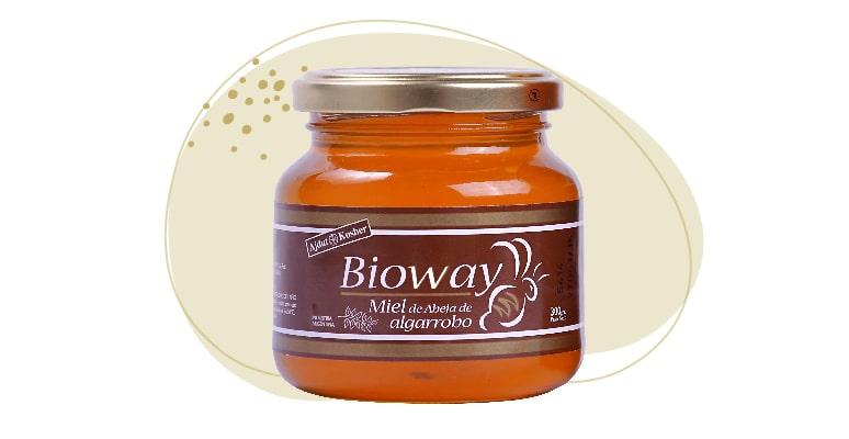 Carob tree ONE-FLOWER honey jar