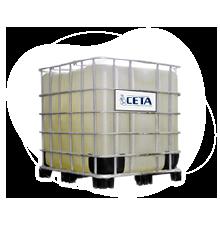 Un contenedor plástico con válvula dosificadora.